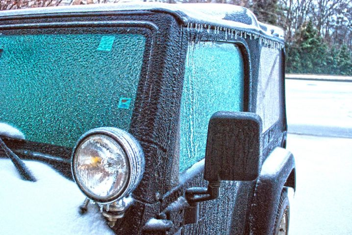 Warning How To Remove Snow Ice From Vinyl Or Plastic Jeep Windows Jeep Wrangler Soft Top Jeep Wrangler Tops Jeep Hacks