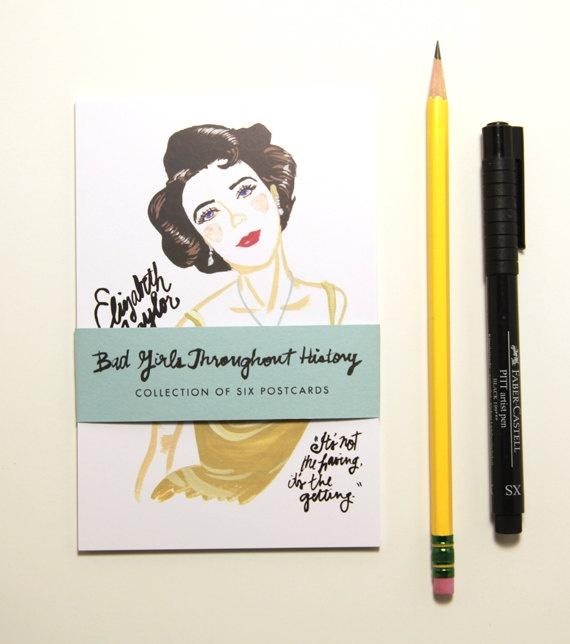 Bad Girls Throughout History Postcards - Set of 6.: Heroes, Girls Generation, Elizabeth Taylors, 8 00, Wallpapers Ideas, Greeting Cards, History Postcards, Postcards Sets, Bad Girls
