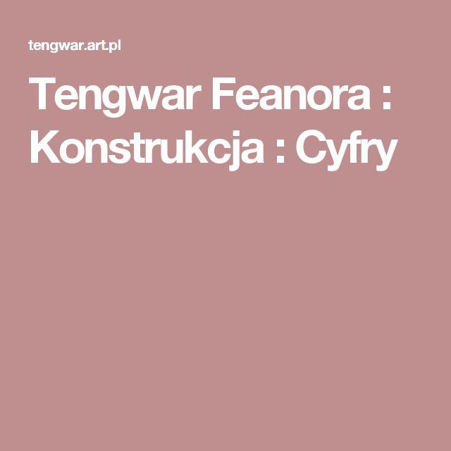 Tengwar Feanora : Konstrukcja : Cyfry