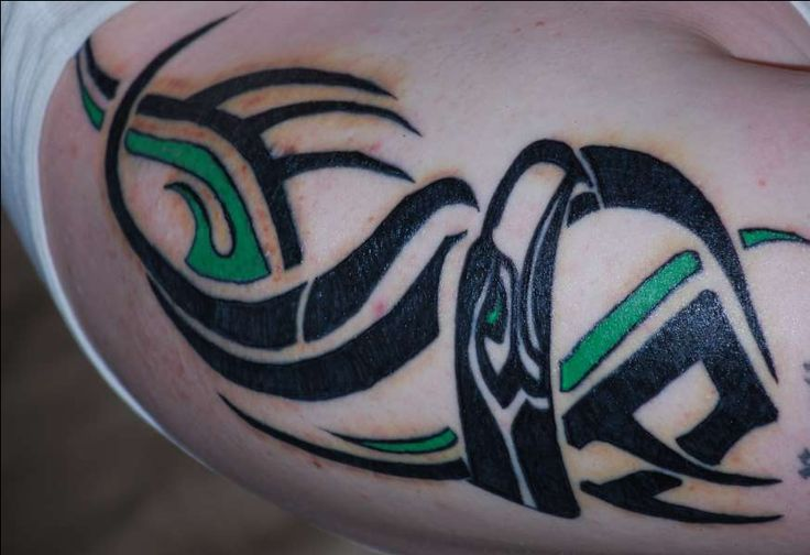 Http wwwtattoodonkeycom seahawks tattoos amazing for Carolina panthers tattoos