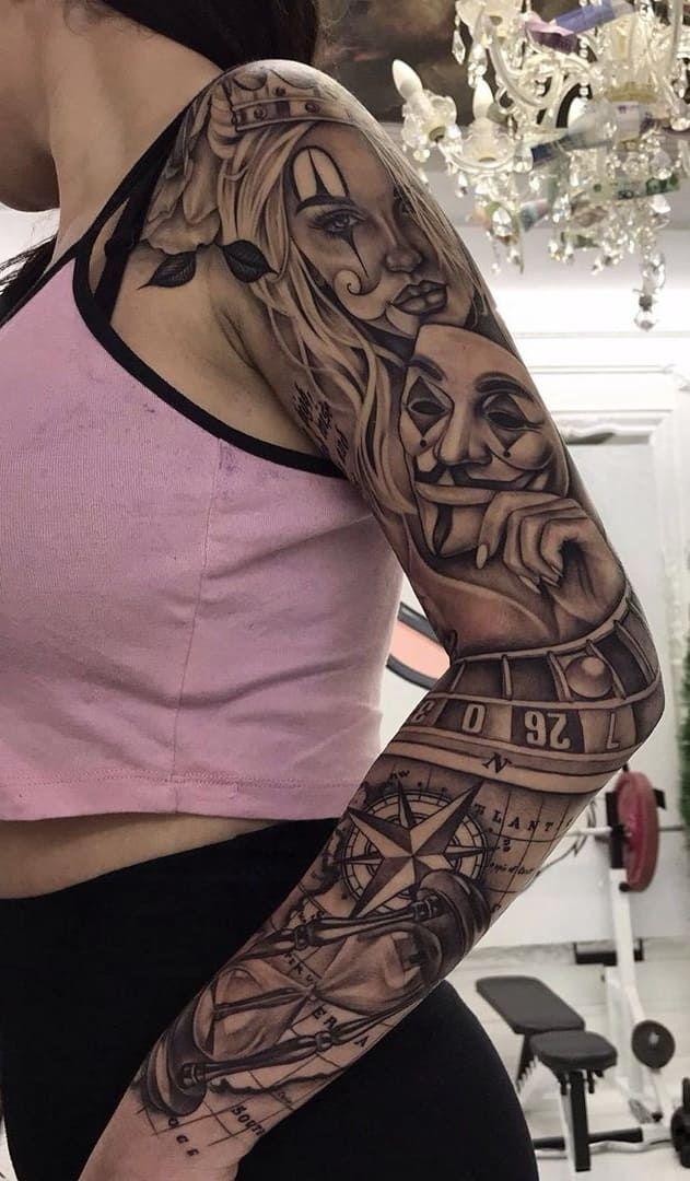 35 braços femininos fechados de tatuagens para você se inspirar – Fotos e Tatu…
