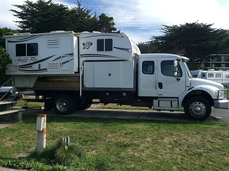 Camping with the Freightliner Arctic Fox rig