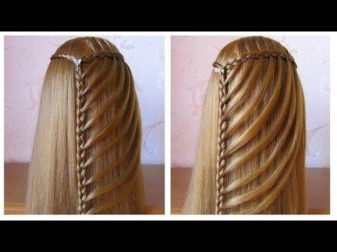 Tuto tresse cascade facile ★ Coiffure simple pour tous les jours, cheveux long - YouTube