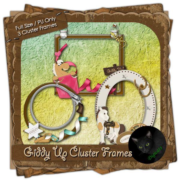 3 Western Themed Cluster Frames