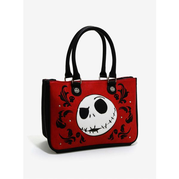 Loungefly The Nightmare Before Christmas Laser Cut Hand Bag (210 SAR) ❤ liked on Polyvore featuring bags, handbags, accessories, christmas bags, pocket bag, pattern purse, christmas purse and stitch bag