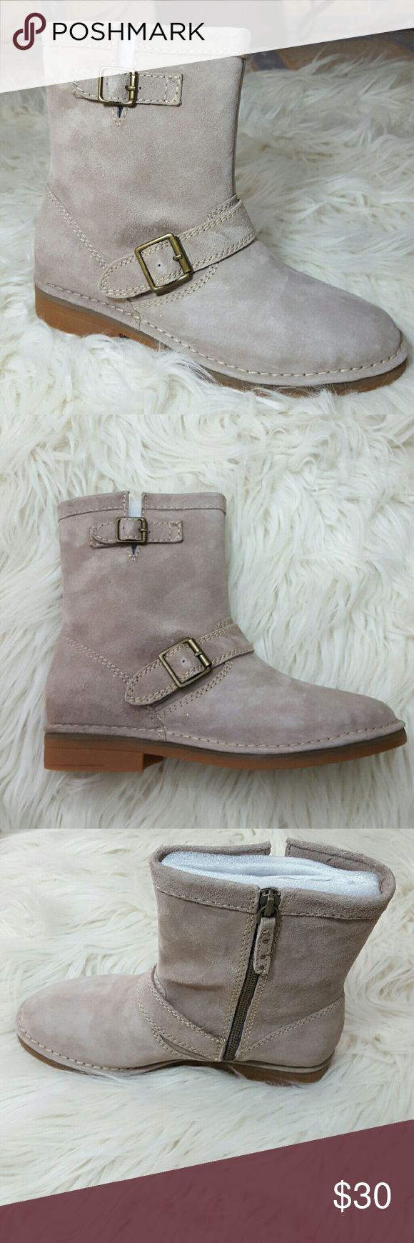 Hush Puppies Aydin Catelyn Taype Suede Boot USA Size 8 Brand New In Box.  Completely wrapped. Zios up the side.  Buckle detail  Rubber sole.   NICE! Hush Puppies Shoes Ankle Boots & Booties