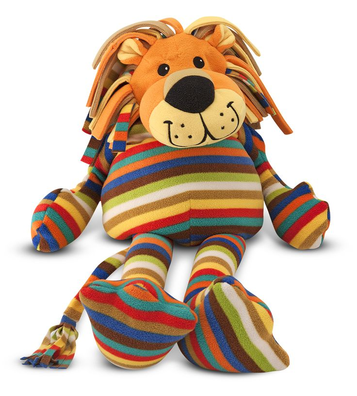 This stripy lion has tremendous appeal to kids and adults, making a great gift for all ages.  From Melissa and Doug, so a really good make.