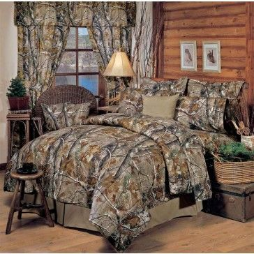realtree all purpose camo comforter sets cabin and lodge bedding hunting decor antlers - Hunting Bedroom Decor