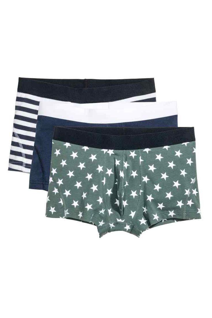 3-pack boxer shorts - Dark blue/Stars - Men | H&M GB 1