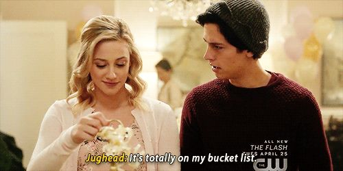 """""""Betty & Jughead's relationship goals. Find a boyfriend as sweet as Juggie….and he's totally #whipped even before they got together xD. Love that they still have their sarcastic banter. """""""