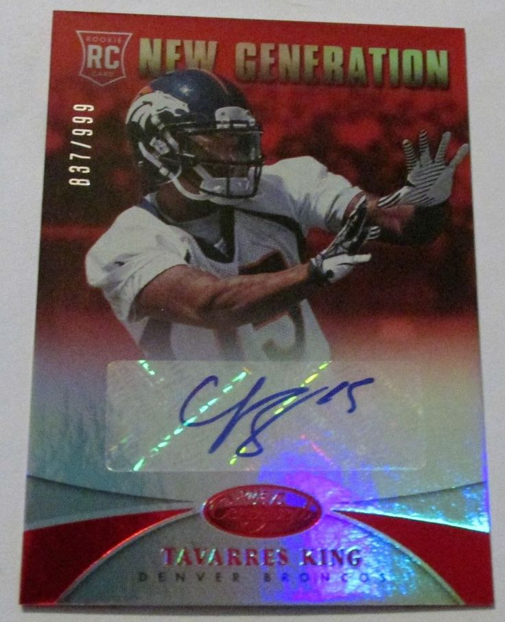 TAVARRES KING 2013 PANINI CERTIFIED RED ROOKIE AUTO 837/999 #DenverBroncos