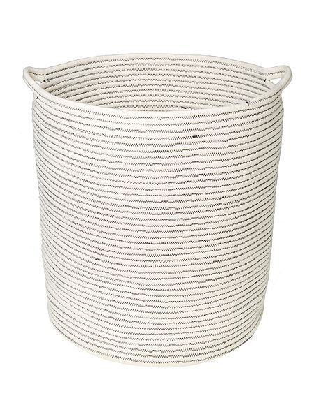 gray and willow Rope laundry bin Depth  39 cm Height  46 cm