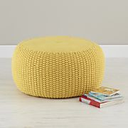Pull Up a Pouf (Yellow Braided)