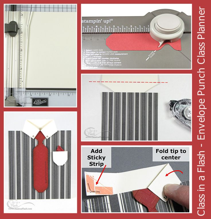 Shirt Card Project from Envelope Punch Board Demonstrator Class Planner