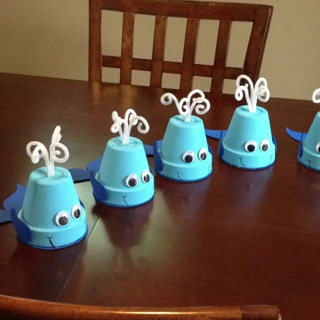 Whale Theme Baby Shower Cute Center Pieces Boy Baby