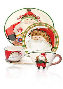 Old St Nick Collection Christmas Dinnerware Sets Christmas Dinnerware Christmas China