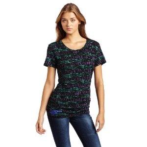 Fashion's Night Out Women's Printed Short Sleeve T-Shirt, Green/Purple, Medium (Apparel): Women'S Prints, Photos Ideas, Sleeve T Shirts, Printed Shorts, Shorts Sleeve, Fashion Night, Prints Shorts, Medium Apparel