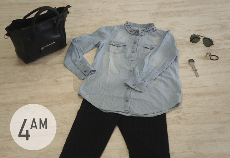 blusa, cartera y colet 4AM