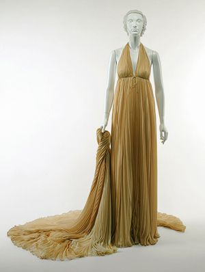 Halston (Roy Halston Frowick): Evening gown with wrap (1996.498.2a,b)   Heilbrunn Timeline of Art History   The Metropolitan Museum of Art