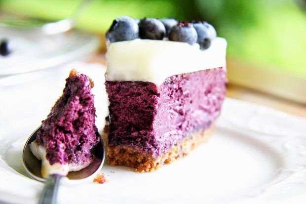 Dánský borůvkový cheesecake - Blåbær Ostekage