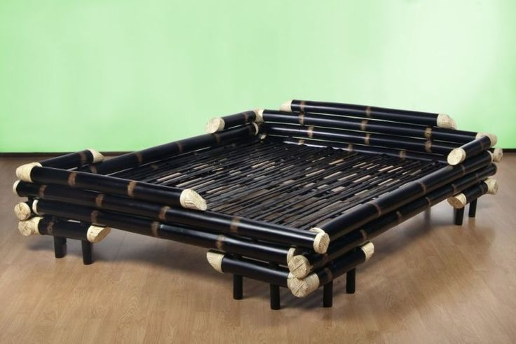 Bambusbett Bali Black Dream 160 x 200cm