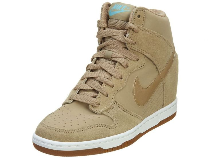 competitive price 77221 060d4 ... nike dunk sky hi essential womens 644877 200 desert camo wedge sneakers  size 7.5