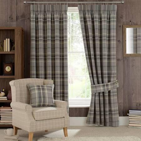 grey tartan curtains - Google Search