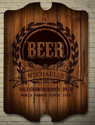 Mark Of Excellence Personalized Bar Sign 44 95