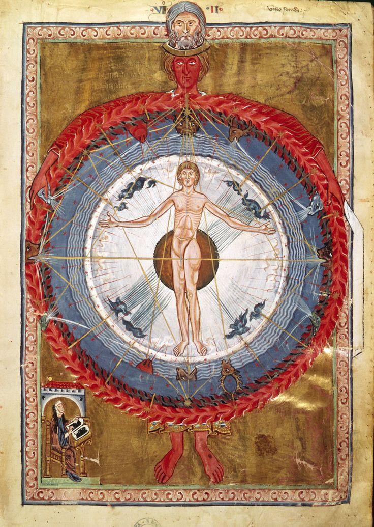 The Universal Man, Liber Divinorum Operum of St. Hildegard of Bingen, 1165