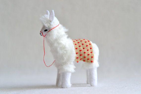 alpaca  soft sculpture by MountRoyalMint on Etsy