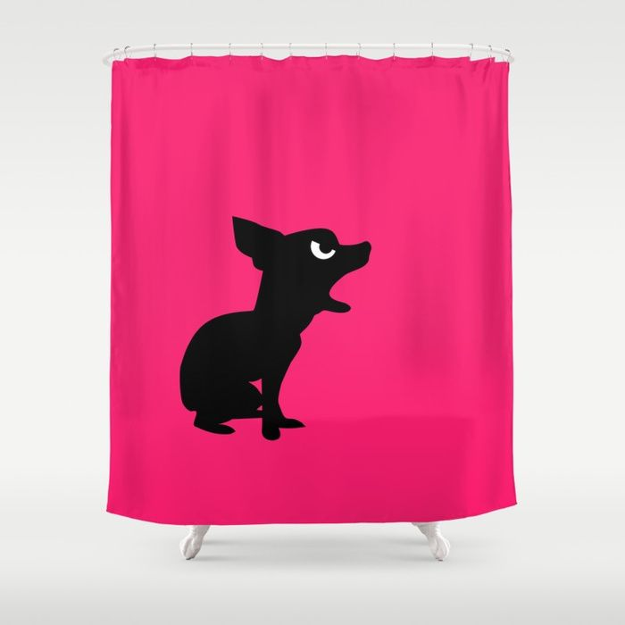 Angry Animals Chihuahua Shower Curtain This Barking Mad