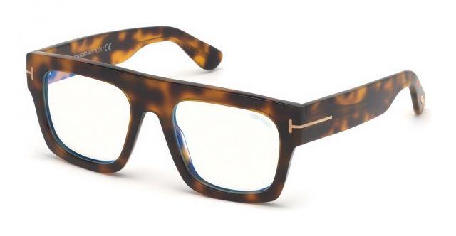 8ff79c850172 Tom Ford FT5634-B 056 Havana Geometric Eyeglasses in 2019