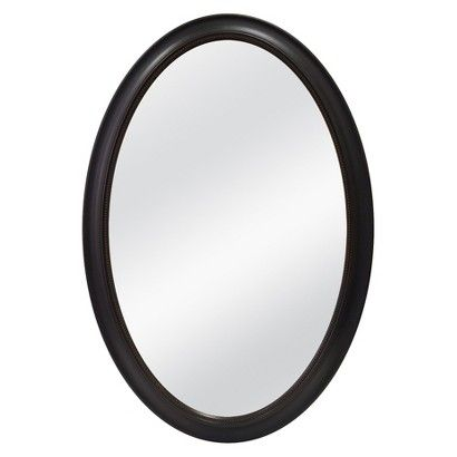 Oval Beaded Decorative Wall Mirror Brown Threshold