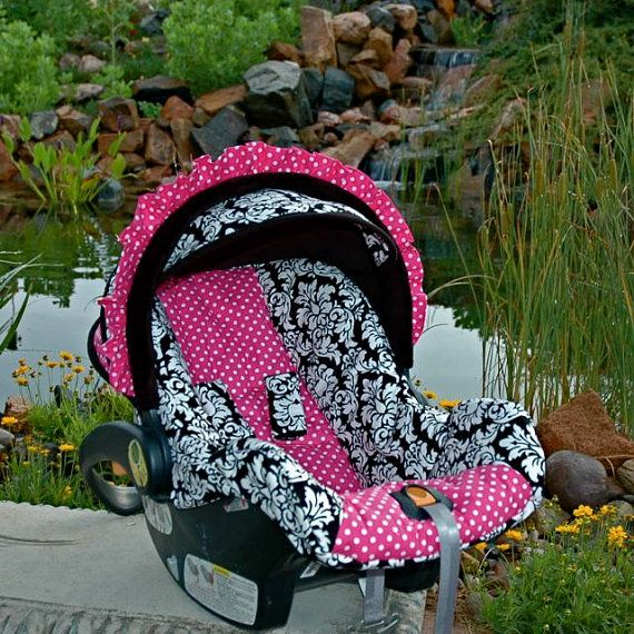 Custom Replacement Infant Car Seat Cover CHICCO KEYFIT 30 Set Includes Coordinating Head Support And Travel Blanket