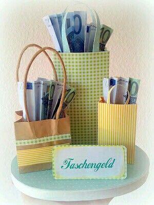 Geld liebevoll verpacken  taschengeld
