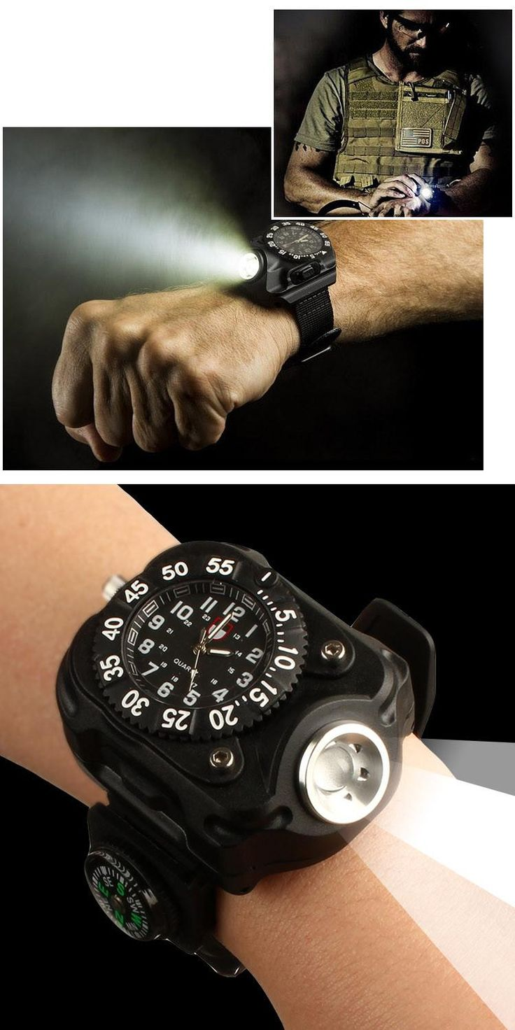 Watches Lithium Battery Led Light Outdoors Gear Watch Electric Stopwatch Compass Direction For Camping Cycling Led Flashlight Nebo Flashlight Led Flashlight Review From Fantasy1988, $19.2| Dhgate.Com
