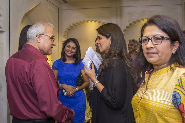 Interacting with the guests at the preview of The Wedding Diaries.