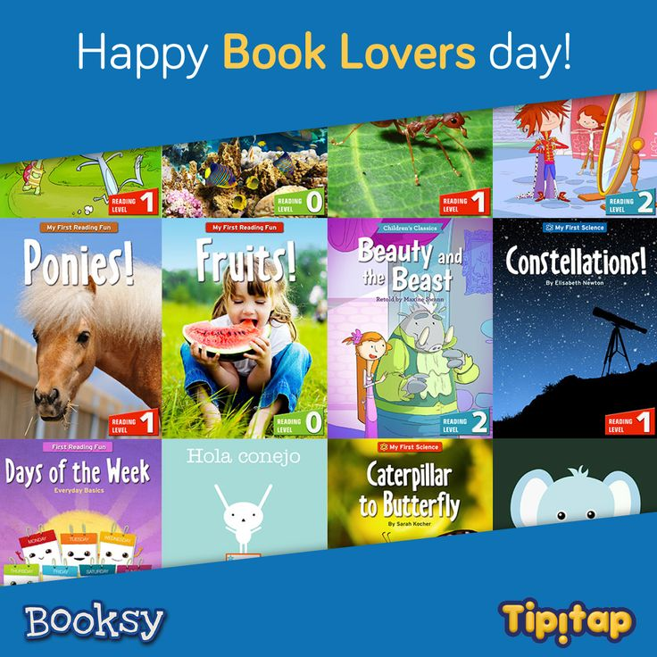 Happy Book Lovers Day! Fall in love with our wide selection of Booksy Books, including Ponies!, Dinosaurs, School is Fun, and many more!