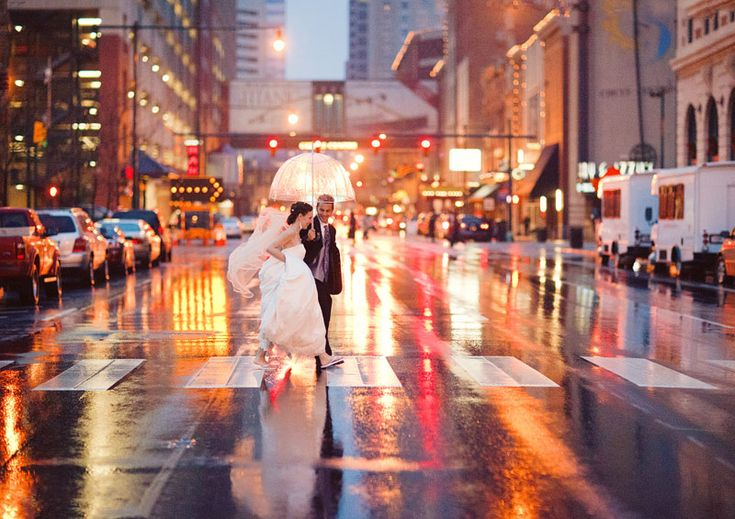 Bride in the rain!