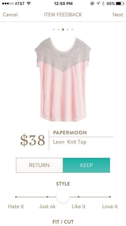 Stitch Fix Papermoon Leon Knit Top - love this in the pink/black instead of the white/black.