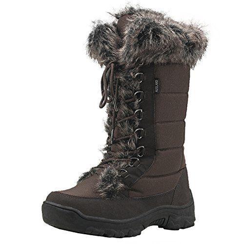 Shenji bottes de neige après ski femme mi-mollet doublure chaude à lacets H7623: Attention: La couleur aurait une différence légère entre…