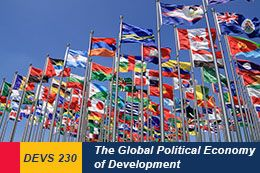 Global Development Studies 230: The Global Political Economy of Development. #queensu: 15 Onlinecours