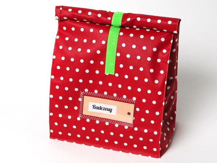 Badetasche / Lunchbag groß von Lieblingsschnitte auf DaWanda.com
