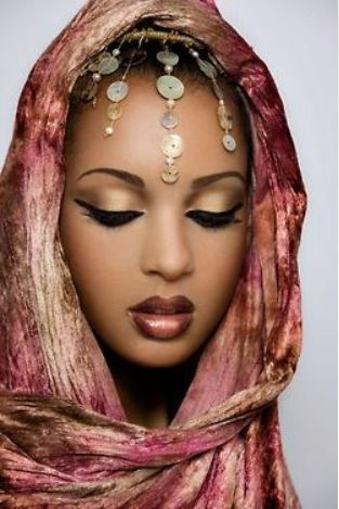 Maquillaje de novia africana