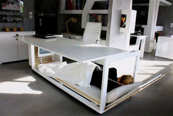 Nap Desk – Ein Schreibtisch mit eingebautem Bett on http://www.drlima.net