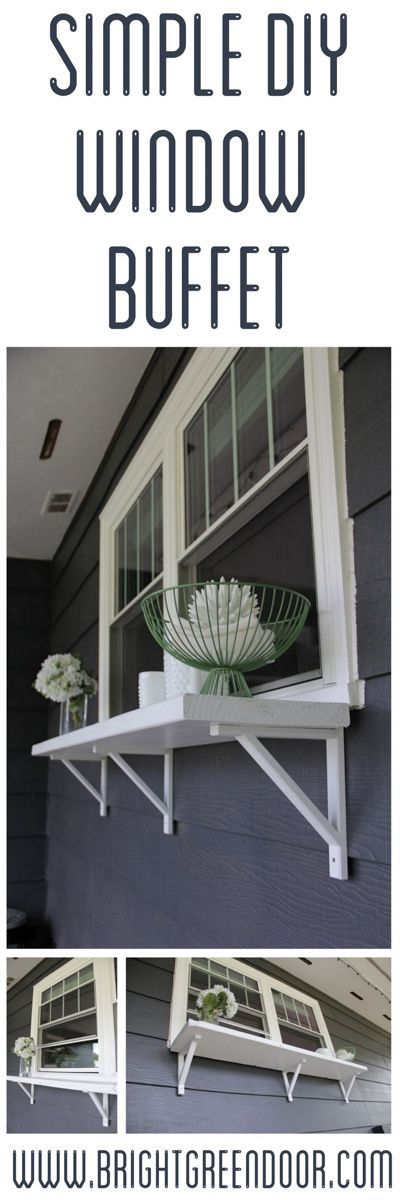Build a Window Serving Buffet DIY Window Bar www.BrightGreenDoor.com