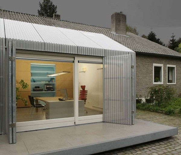 Garage Turned Into Office