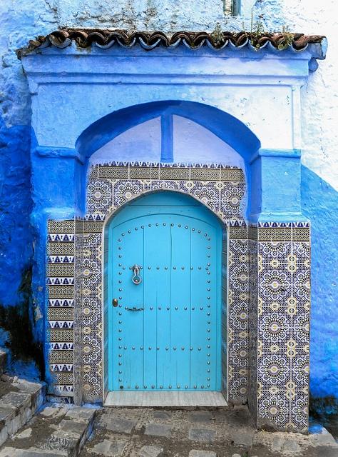 Chaouen. Morocco & 203 best Exotic doors images on Pinterest | French doors Doorway ...