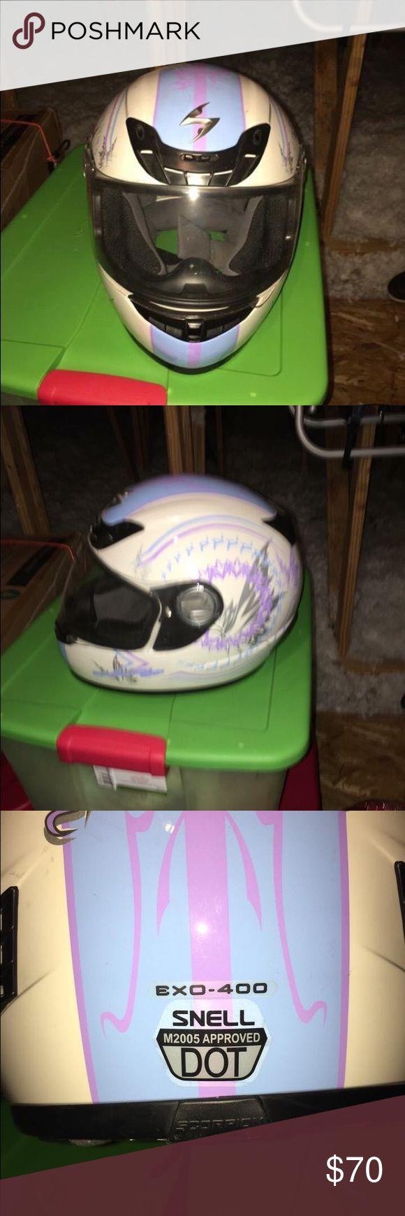 ❇️PRICE DROP❇️ Motorcycle Full Face Helmet Scorpion helmet; full face; DOT/SNELL compliant; EUC, non-smoker scorpion Other