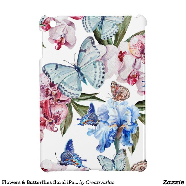 Ipad covers | Flowers & Butterflies floral iPad mini glossy case iPad Mini Covers